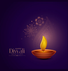Elegant diwali festival greeting background vector
