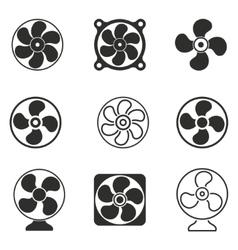 fan icon set vector image