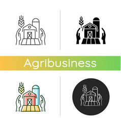 Farmers support icon vector