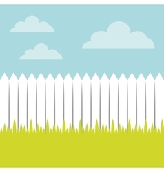 Fence and grass landscape vector