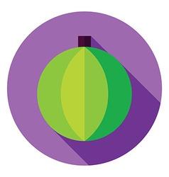 Flat Design Decorative Christmas Ball Circle Icon vector image