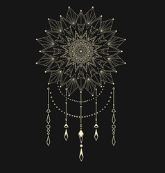 flower mandala dream catcher vector image