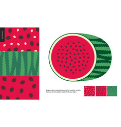 Food patterns fruit watermelon vector