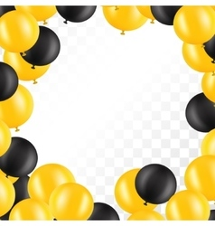 Frame of balloons on transparent background vector image