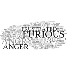 Furious word cloud concept vector