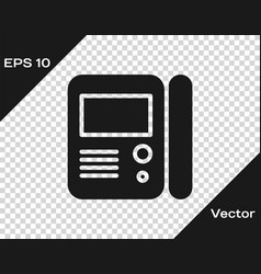 Grey house intercom system icon isolated on vector