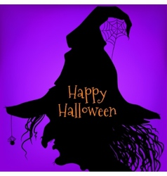 Halloween witch purple vector