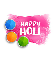 happy holi colors background with gulal powder vector image