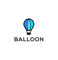 Hot air balloon logo design - balloon flat logo vector