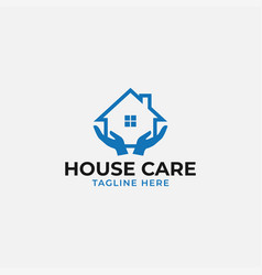 house care logo design template isolated vector image