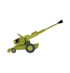 Howitzer in Flat Design vector image