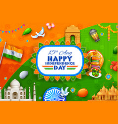 Indian background showing its incredible culture vector