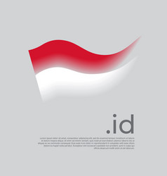Indonesia flag colored stripes indonesian vector