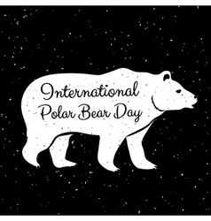International Polar Bear Day vector image