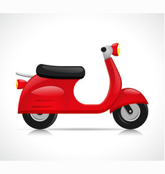 isolated vintage motorcycle design vector image