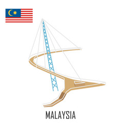 landmark langkawi malaysia sky bridge vector image