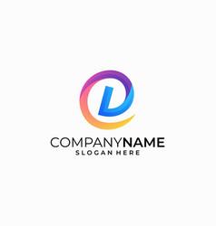 letter d concept design template vector image