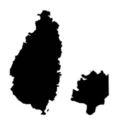 Map saint lucia and castries isolated vector