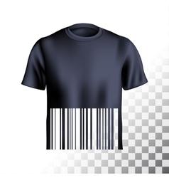 Mens tshirt design barcode vector image