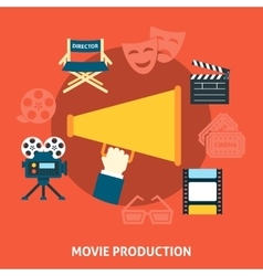 Movie production Flat design vector