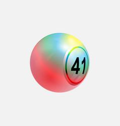multi colours 3d bingo lottery ball on white vector image