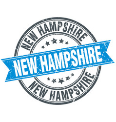 New hampshire blue round stamp vector