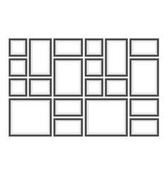 picture photo frames set vector image