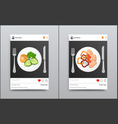 Posts collection on instagram vector