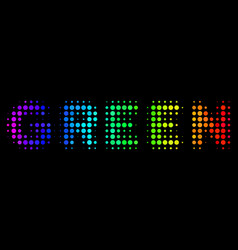 rainbow colored dotted green text icon vector image