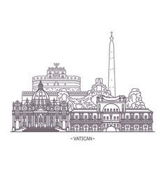 Religion landmarks of vatican city vector
