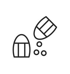 salt icon vector image