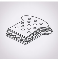 Sandwich cheese icon vector