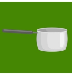 saucepan for cooking food at kitchen empty vector image