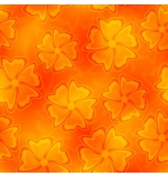 Seamless flower backdrop vector image vector image