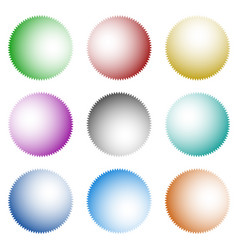 set of badges buttons with light coming from vector image