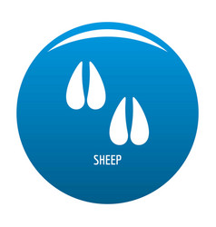 Sheep step icon blue vector