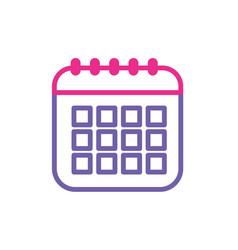 silhouette calendar data to organizer important vector image