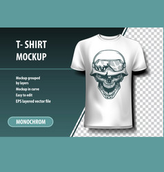 Skull of the german soldier t-shirt template vector