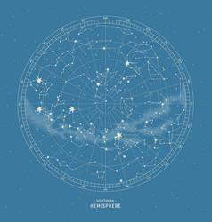 Southern hemisphere star map vector