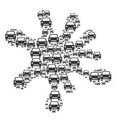 Spot mosaic of car icons vector