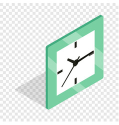 square clock isometric icon vector image