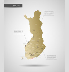 stylized finland map vector image