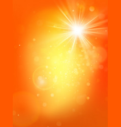 summer sunny hot orange template with burst and vector image