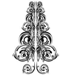 Swirls floral christmas tree3 vector