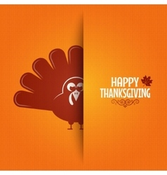 Thanksgiving turkey greeting card background vector image