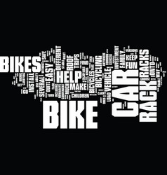 The benefits of a car roof bike rack text vector