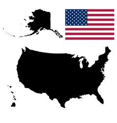 united states america map vector image