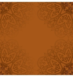 Vintage template Oriental circle background vector image