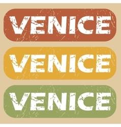 Vintage Venice stamp set vector image