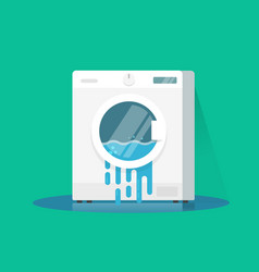 washing machine broken flat vector image